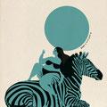 """Never without my Zebra"" Illustration  dessin numérique © Julia Ratsimandresy 2019"
