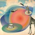 """""""Tea Time"""" Illustration collage numérique"""