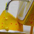 """""""Thé citron"""" Détail2 jus de citron, fil de coton, perles, fil de fer, acrylique..."""