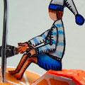 """""""Pressé le matin"""" Détail2 lutin papier, fil de fer, acrylique, aquarelle et encre de chine..."""