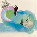 """""""Curves"""" Illustration collage numérique"""
