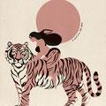 """Never without my Tiger"" Illustration  dessin numérique"