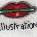 Zoom logo Juli'arts illustration Broderie