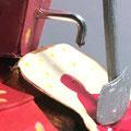 """""""Strawberries jam for ever"""" Détail2 tartine origami 3D papier, fil de fer, cure-dent bois, acrylique..."""