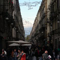 Turin mit den Schneebergen im Hintergrund