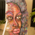 Afro Girl USD $ 3,000.00 (Mixed media on metal)