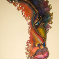 Soul Girl  37 x 16 - UDS $ 1,800.00  (Mixed media on metal)