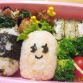 2010.8.20 手作りの高菜ふりかけとチーズをはさんだプチトマト。