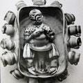 """Einzelstück / """"Der Töpfer"""" / Schüsselkeramik, zusammengesetzt aus vielen auf der Töpferscheibe gedrehten Einzelteilen / Engobe Sintertechnik"""
