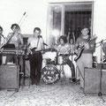 """1973 Complesso musicale """" The New Expectation"""" con Cosimo Mosaico(sax)Giovanni Marrazzo(batteria) Consalvo Carnevale (tastiera) Giorgio Geraci(basso)Franco Lazzarano(chitarra ritmica)Antonio Scarcella(voce)"""