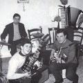 """1962 Complesso musicale """" I Galli"""" con Peppino Gallina(batteria) Alfonso Capalbo(fisarmonica) Tony Oriolo(chitarra ritmica) Franco Lazzarano(chitarra basso)"""