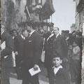 Anni '50 - Processione S.Francesco (tra gli altri, il piccolo Mingrone, Giacinto Casciaro, Sosto- foto dalla rete di F.Grillo)