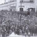 1936 In Piazza del Popolo manifestazione fascista per la vittoria in Africa