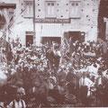 1928 - Sagra dell'uva in Piazza del Popolo , all'Acquanova. Questa sagra, una festa popolare, si tenne dagli anni '20 fino al 1939.