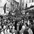 Nei primi anni '70 - Manifestazione della sinistra (P.zza del Popolo)