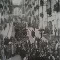 Anni 40 Una manifestazione fascista lungo via Roma