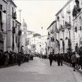 Arrivo alle ore 11 del 14-4-1961 del Capo del Governo, on Amintore Fanfani, a Corigliano Calabro