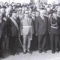 1971 Il commissario Gaetano La Torre durante la cerimonia del 4 Novembre