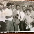 Fine anni '50 - Mastro Ciccio Berardi al centro (costruzione della casa del direttore De Santis-Foto di G. Berardi)