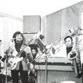1975 Complesso musicale, Tony Bonofiglio band. Da sin. Tony Bonofiglio; Giovanni Mannara; Pino Trescale; Vincenzo Montillo e il romano Mario Tespino