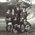29-10-1954 In alto da sinistra: F. Arnone, F. Tramaglino, M. Izzo, G. Reda. In basso, da sinistra: P. Benvenuto, E. Paura e Lasso