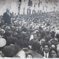 1952 - Il sindaco G.B. Policastri accoglie il ritorno a Corigliano dei Padri Minimi - in primo piano don Antonio Colosimo e P.Antonio Rasulo(quello con gli occhiali)