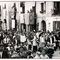 Inizi anni '50 - Processione san Francesco su via Roma (f.to L.Policastri)