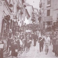 1966-Via S. Francesco, manifestazione per l'Università in Calabria