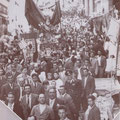 1951-Processione di S.Francesco(nei pressi del palazzo Mazziotti in Via S. Francesco)