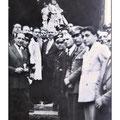 1948- Processione di San Francesco (tra gli altri: don Ciccio e don Battista Policastri- foto di L. Policastri)
