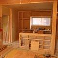 キッチン、カウンターの造作