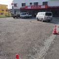 取壊、駐車場用地として造成