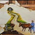 杉山秀三郎  (群馬)    奨励賞 『道標か?壁画か?』 油彩