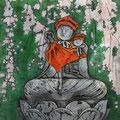 大山金男  (埼玉)    奨励賞 『秩父路の春』 版画