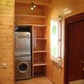 Lavadora y secadora en la cocina.