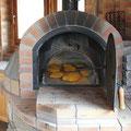 Pan al horno de leña.