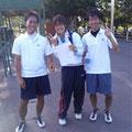 先輩の熱い試合にうるっときたかわいい(?)少年世古と竜太郎さんナガシさん