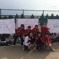 女子団体Eチーム!初心者1年生とお上手な3年生保健のみなさんです。