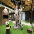 フィール旭川フェイクグリーンオリーブモチーフ 1階巨木