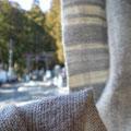 マフラー  横糸にモヘアを使い柔らか~い仕上がり  幅17×長さ170センチ (sold-out)