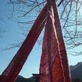 マフラー 熊野古道を歩く元気な女性をイメージして  ウール60%使用  幅30×長さ213センチ (sold-out)