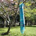 マフラー UV効果のあるシルク糸をたっぷり使ったリッチな作品 シルク60% 23×170cm
