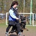 11.03.2014 - Monique en Qby tijdens de training
