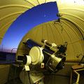 Interior de la cúpula del T40 la noche anterior después de las pruebas con el refractor y la cámara.