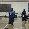 当日は地元の高谷中学の剣道部も参加