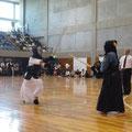 中学女子団体戦の大将戦は信篤同士