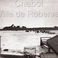Construction d'une jetée qui deviendra les bases de la marina de Roberval. Février 1965. Fonds Studio Chabot.