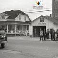 Caserne de pompiers de Chambord en 1961. Fonds Fernand Bilodeau.