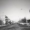 Boulevard Saint-Joseph de Roberval en novembre 1968. Collection Jean Gagnon.