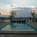 """Abendessen am Pool beim """"Hippo-point"""""""